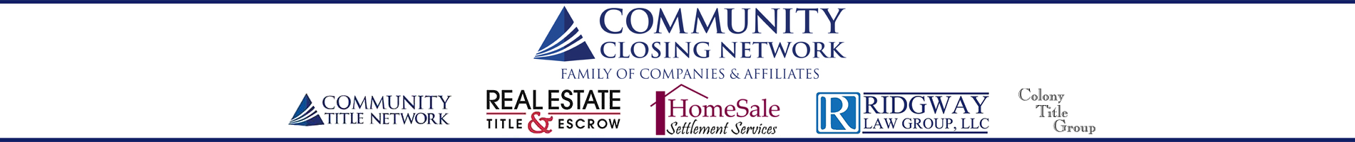 community closing network family of companies and affiliates logos
